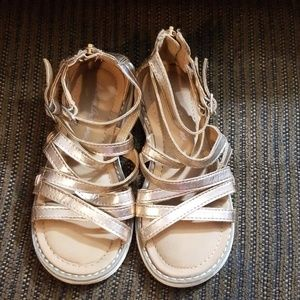Hanna Andersson gold sandals size 12